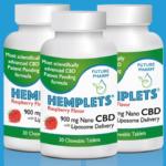 CBD Liposome Hemplets Chewable Tablets (Raspberry)